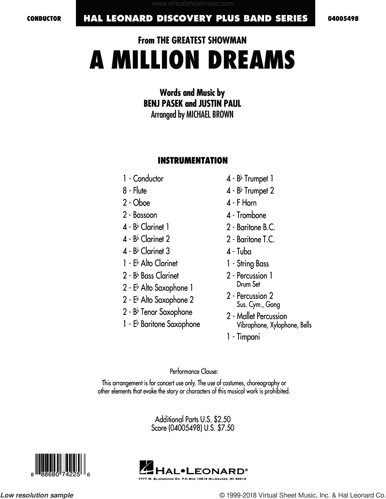 a million dreams piano sheet music pdf free easy