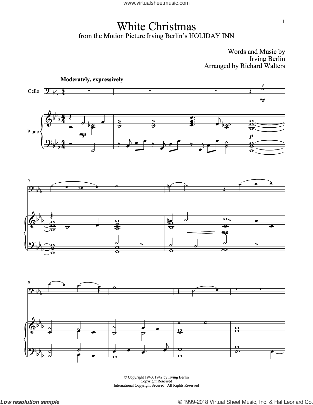 Berlin White Christmas Sheet Music For Cello And Piano Pdf