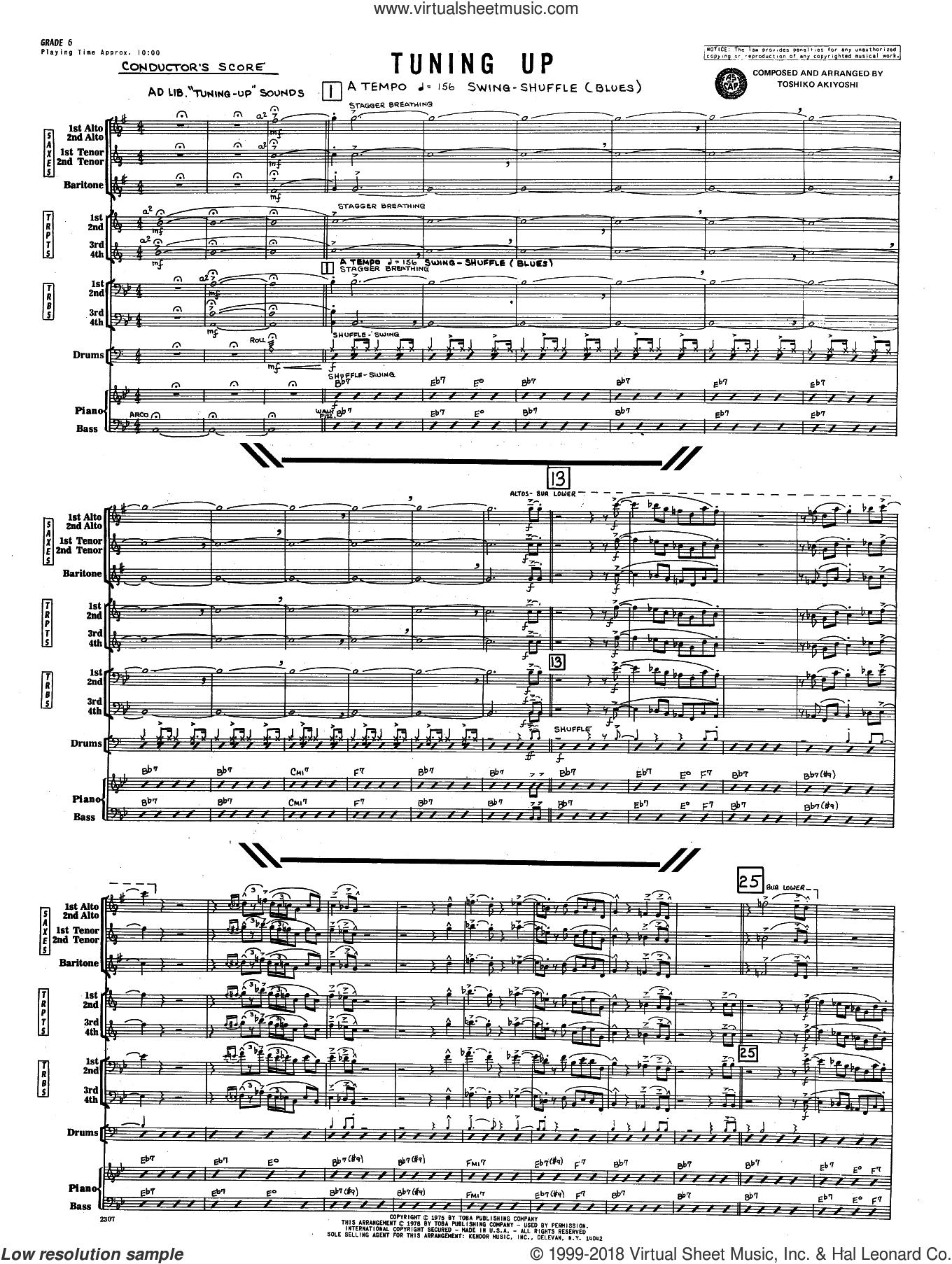 Tuning Up (COMPLETE) sheet music for jazz band by Toshiko Akiyoshi, intermediate skill level