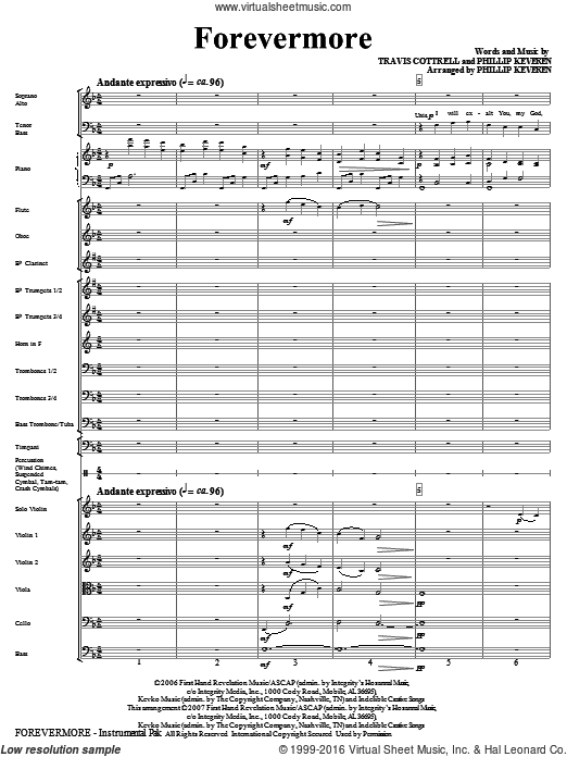 Forevermore (COMPLETE) sheet music for orchestra by Travis Cottrell and Phillip Keveren. Score Image Preview.