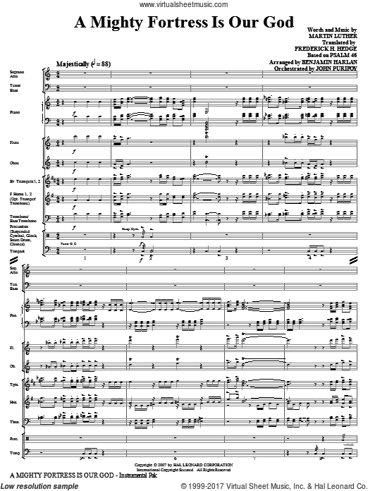 A Mighty Fortress Is Our God (COMPLETE) sheet music for orchestra