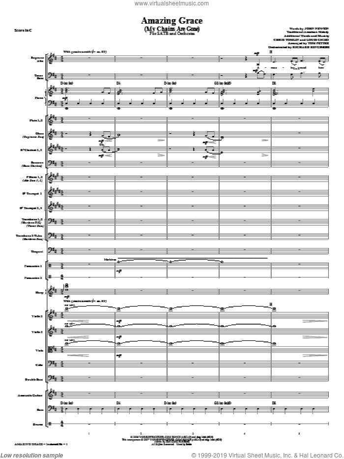 Tomlin Amazing Grace My Chains Are Gone Sheet Music Complete
