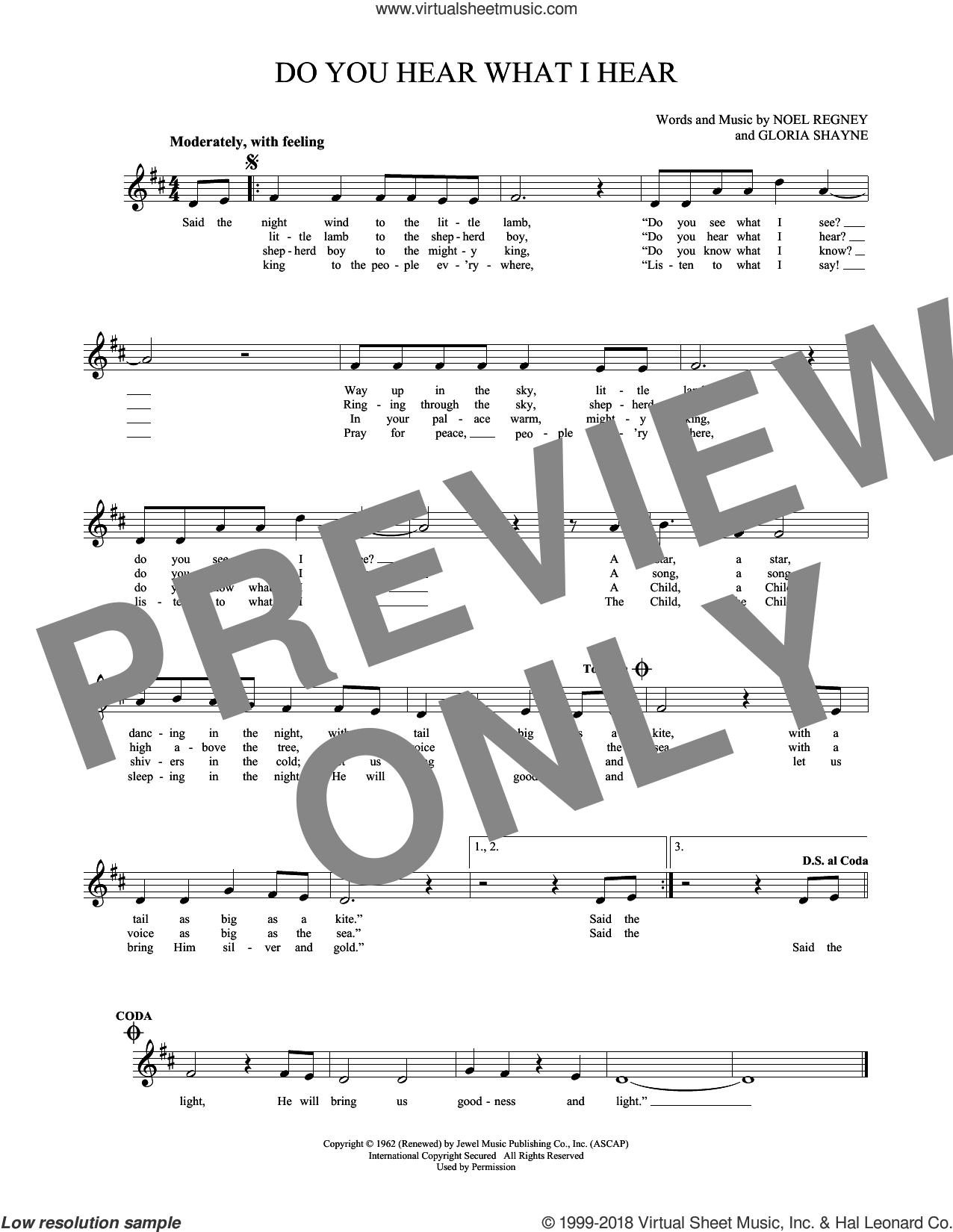Do You Hear What I Hear sheet music for ocarina solo by Gloria Shayne and Noel Regney, intermediate skill level