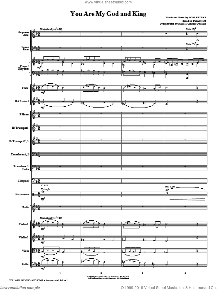 You Are My God And King (COMPLETE) sheet music for orchestra/band (Orchestra) by Tom Fettke, intermediate skill level