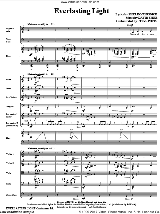 Everlasting Light (COMPLETE) sheet music for orchestra by David Shire
