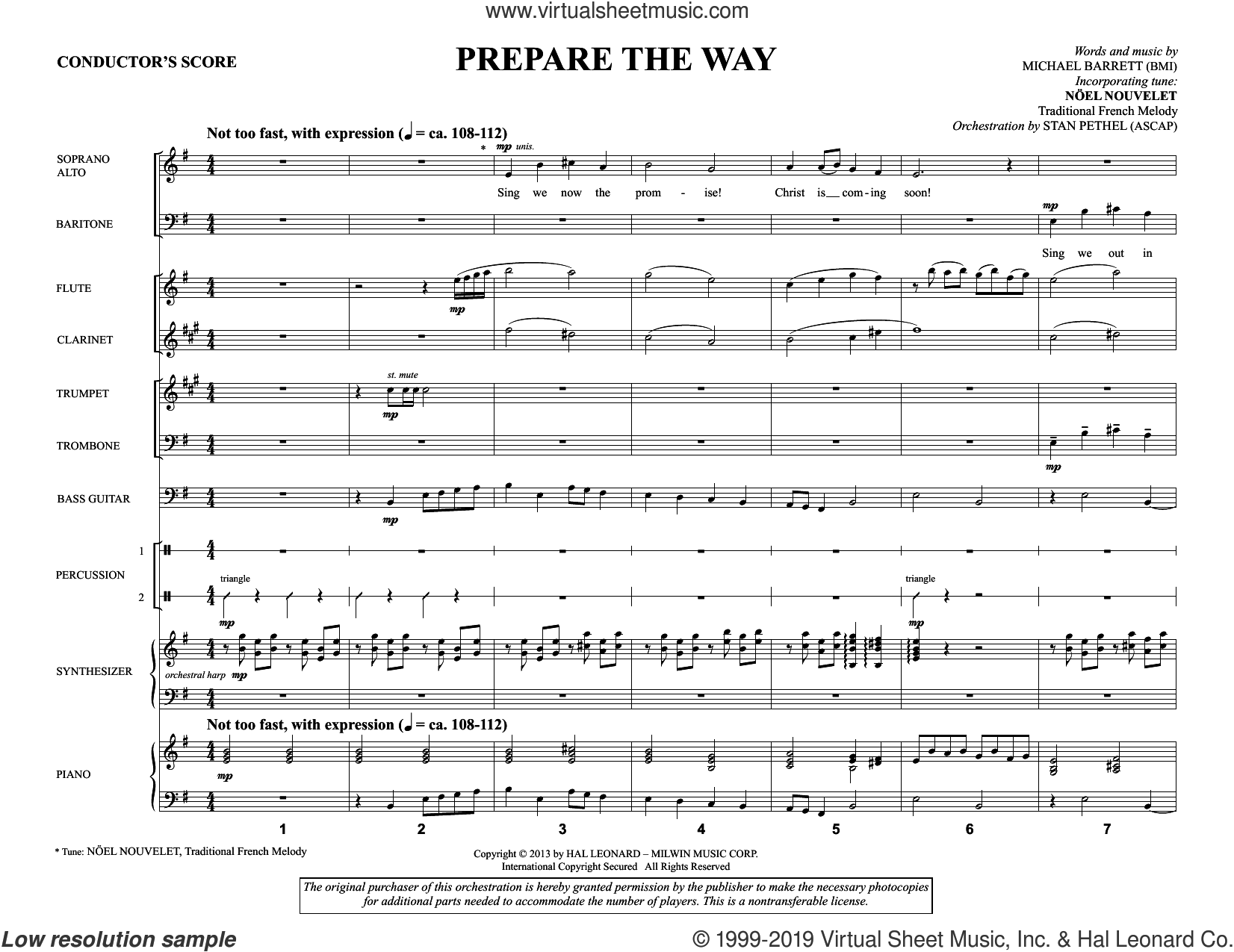 Prepare the Way (COMPLETE) sheet music for orchestra/band by Michael Barrett, intermediate skill level