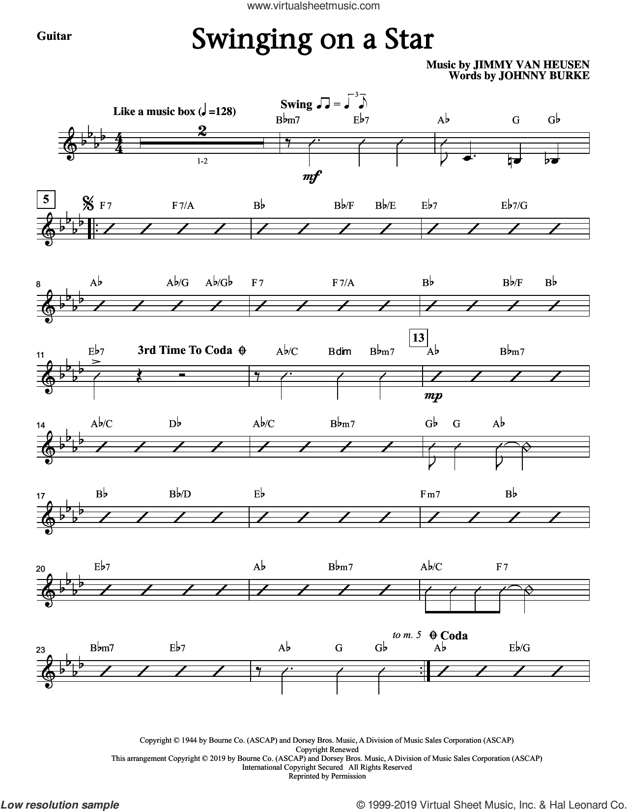 Swinging on a Star (arr. Greg Gilpin) (complete set of parts) sheet music for orchestra/band by Jimmy Van Heusen, Greg Gilpin and John Burke, intermediate skill level