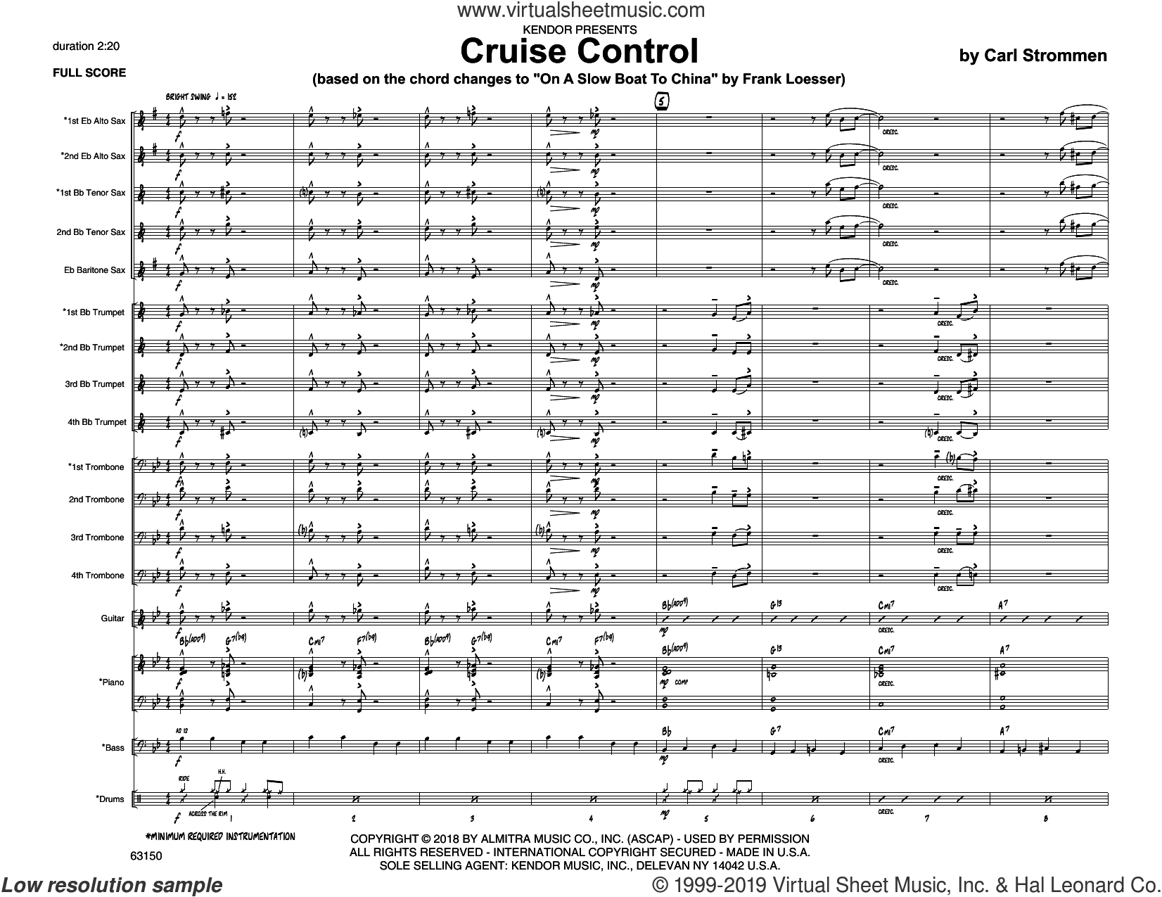 Cruise Control (COMPLETE) sheet music for jazz band by Carl Strommen, intermediate skill level
