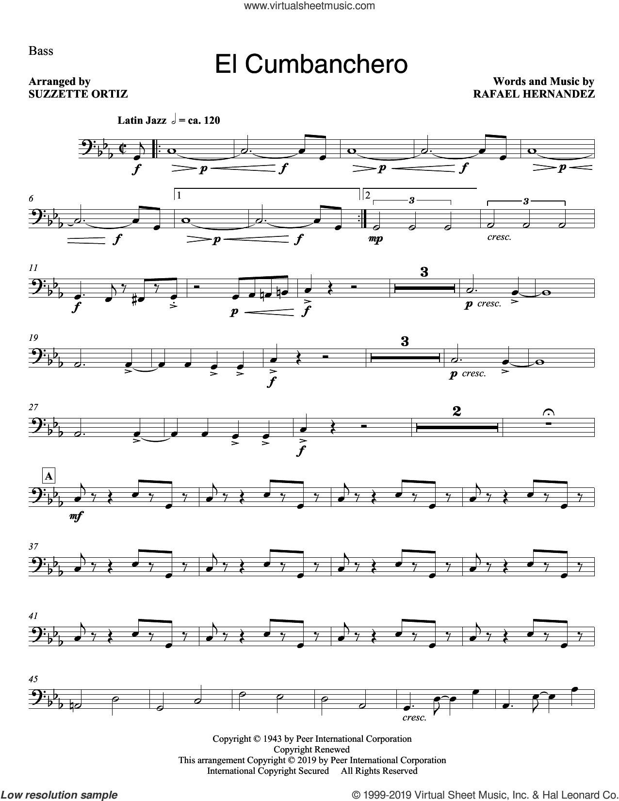 El Cumbanchero (arr. Suzette Ortiz) (complete set of parts) sheet music for orchestra/band by Rafael Hernandez, intermediate skill level