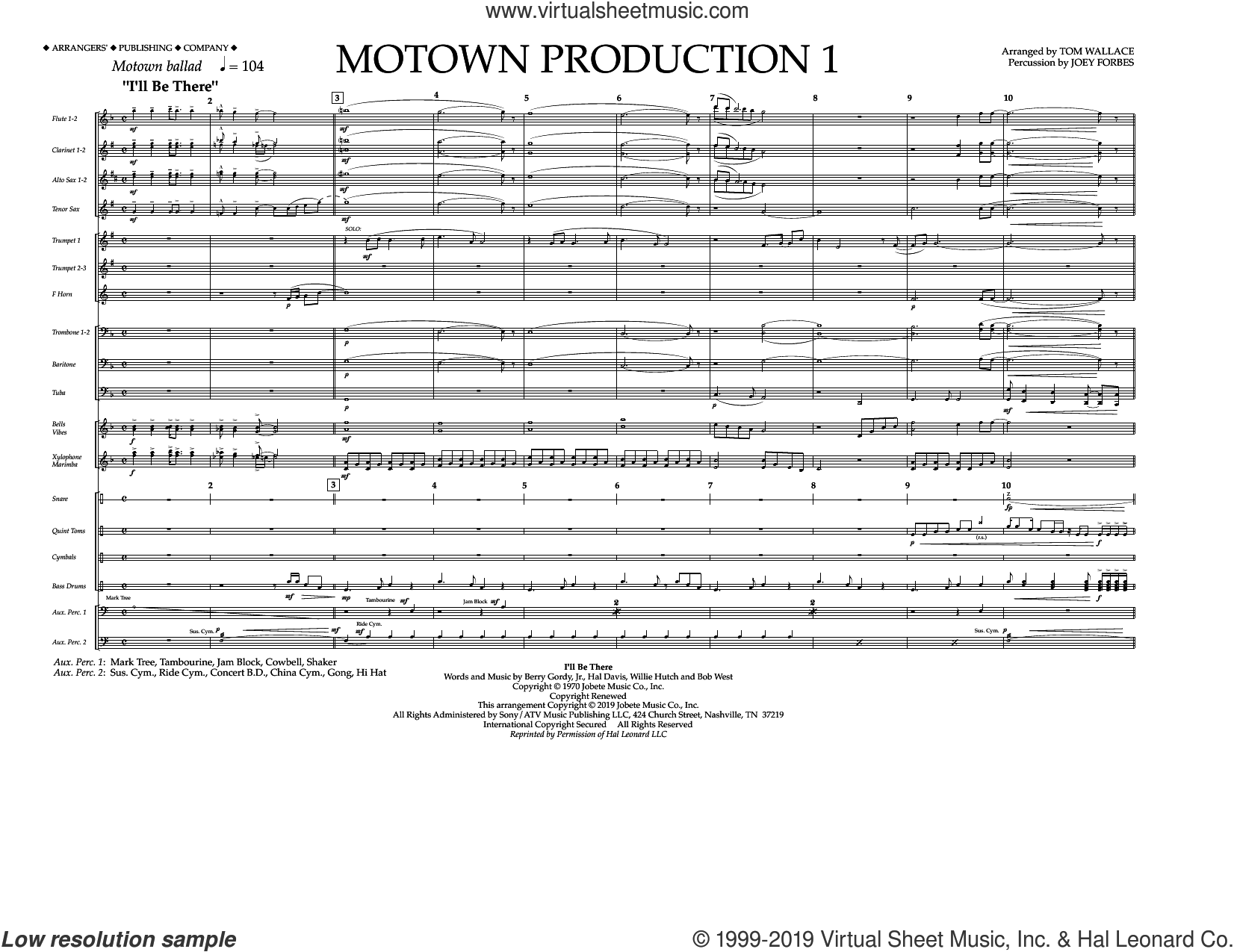 Motown Production 1 (arr. Tom Wallace) (COMPLETE) sheet music for marching band by Michael Jackson, Jackson 5 and Tom Wallace, intermediate skill level