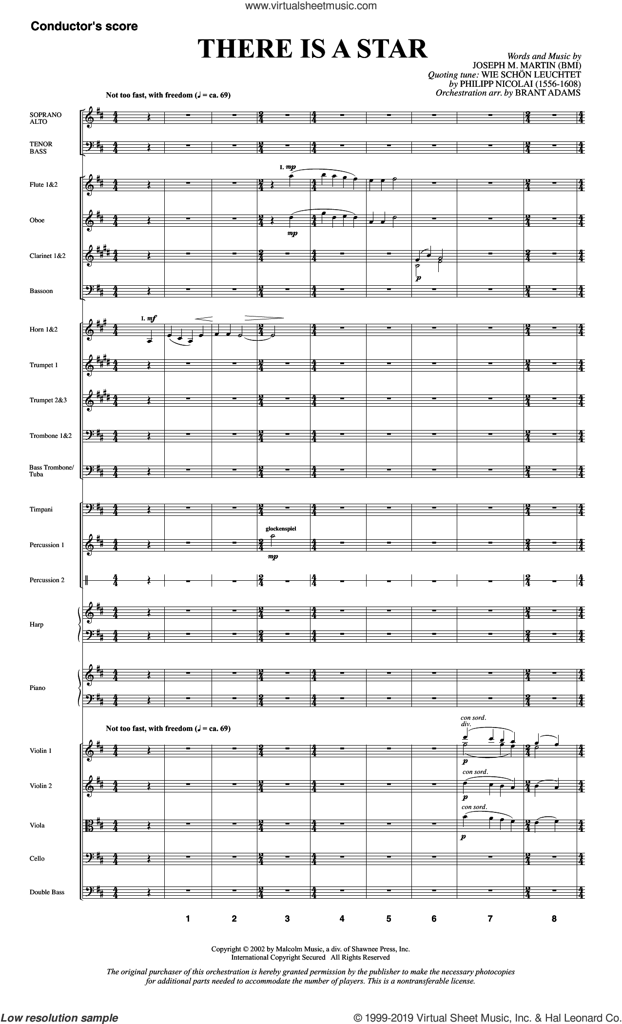 There Is a Star (COMPLETE) sheet music for orchestra/band by Joseph M. Martin, intermediate skill level