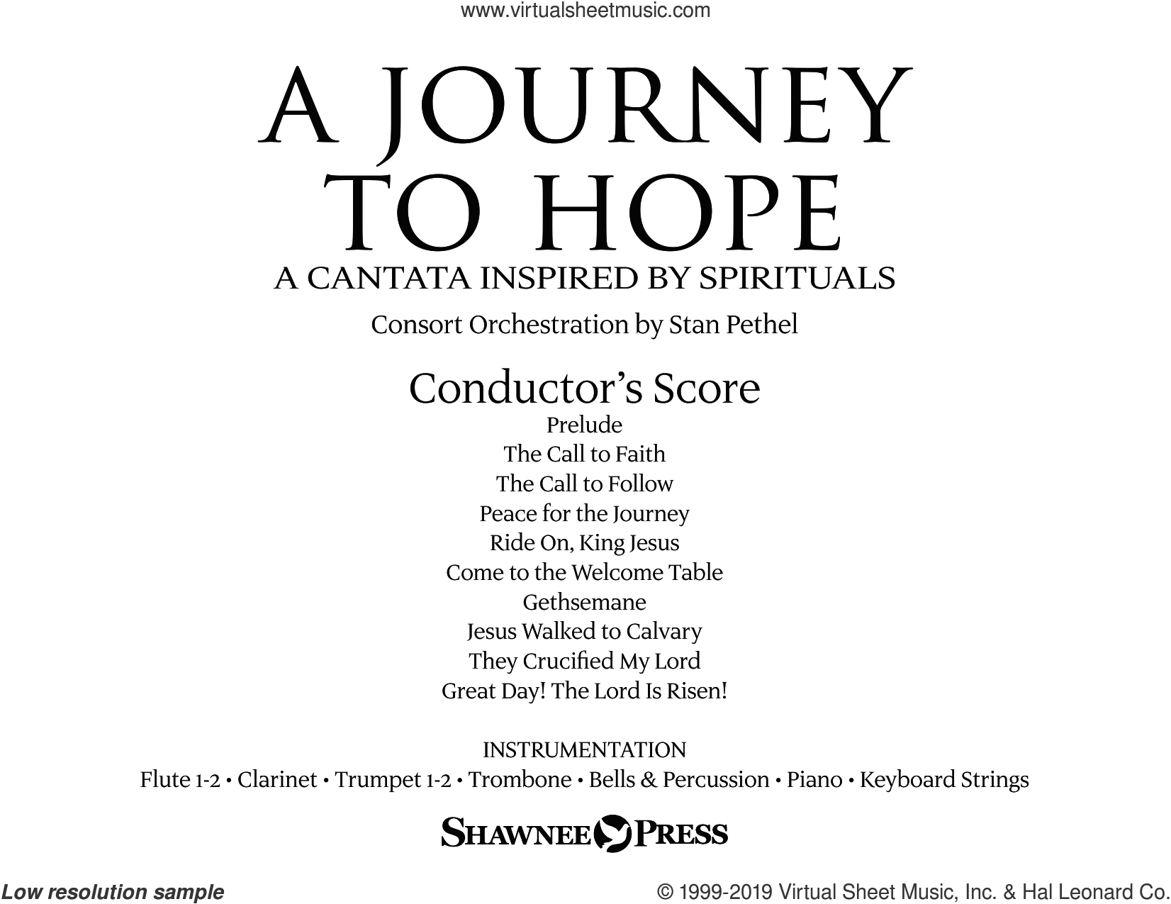A Journey To Hope (A Cantata Inspired By Spirituals) (COMPLETE) sheet music for orchestra/band by Joseph M. Martin, intermediate skill level