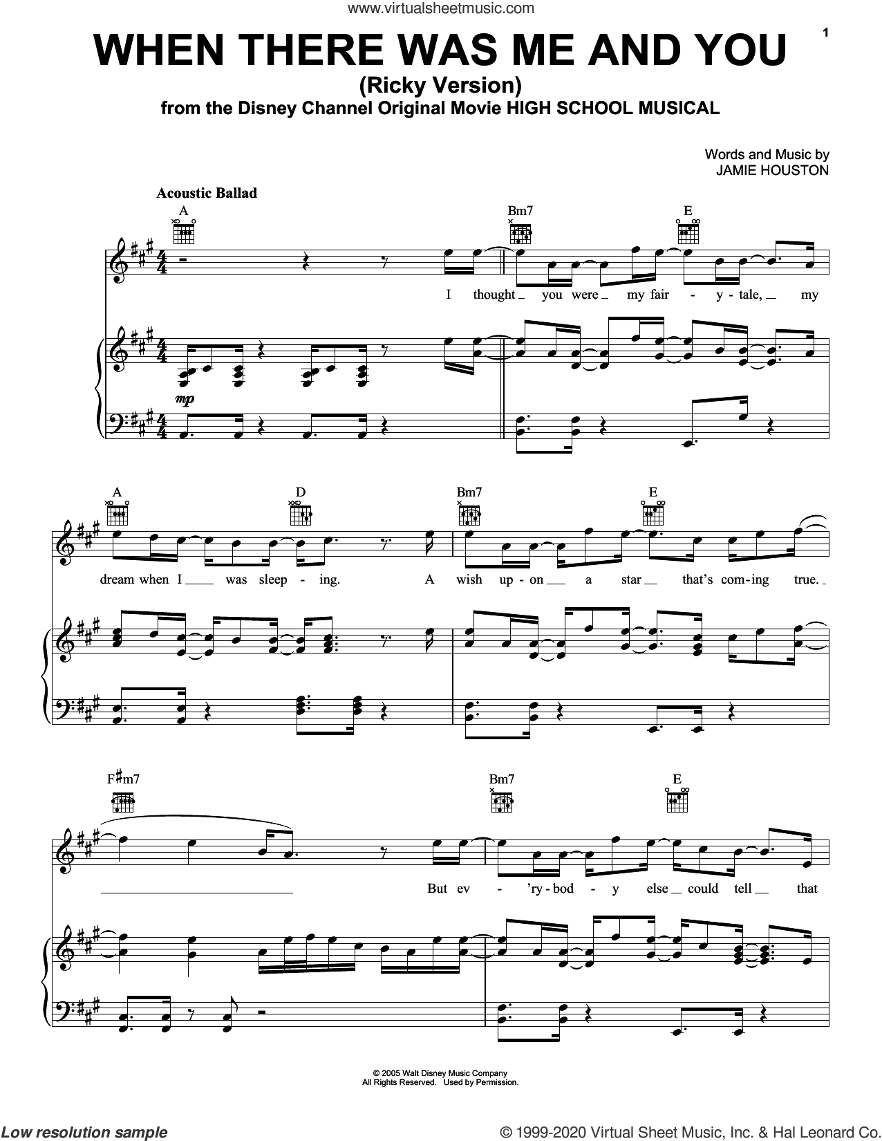 When There Was Me And You (from High School Musical: The Musical: The Series) sheet music for voice, piano or guitar by Joshua Bassett and Jamie Houston, intermediate skill level