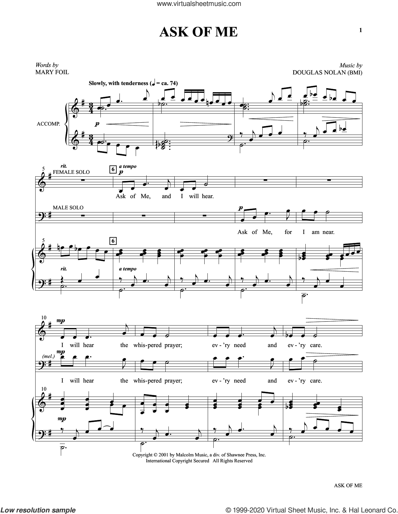 Voices Together: Duets for Sanctuary Singers (Collection) sheet music for two voices and piano by Joseph M. Martin and Miscellaneous, intermediate skill level