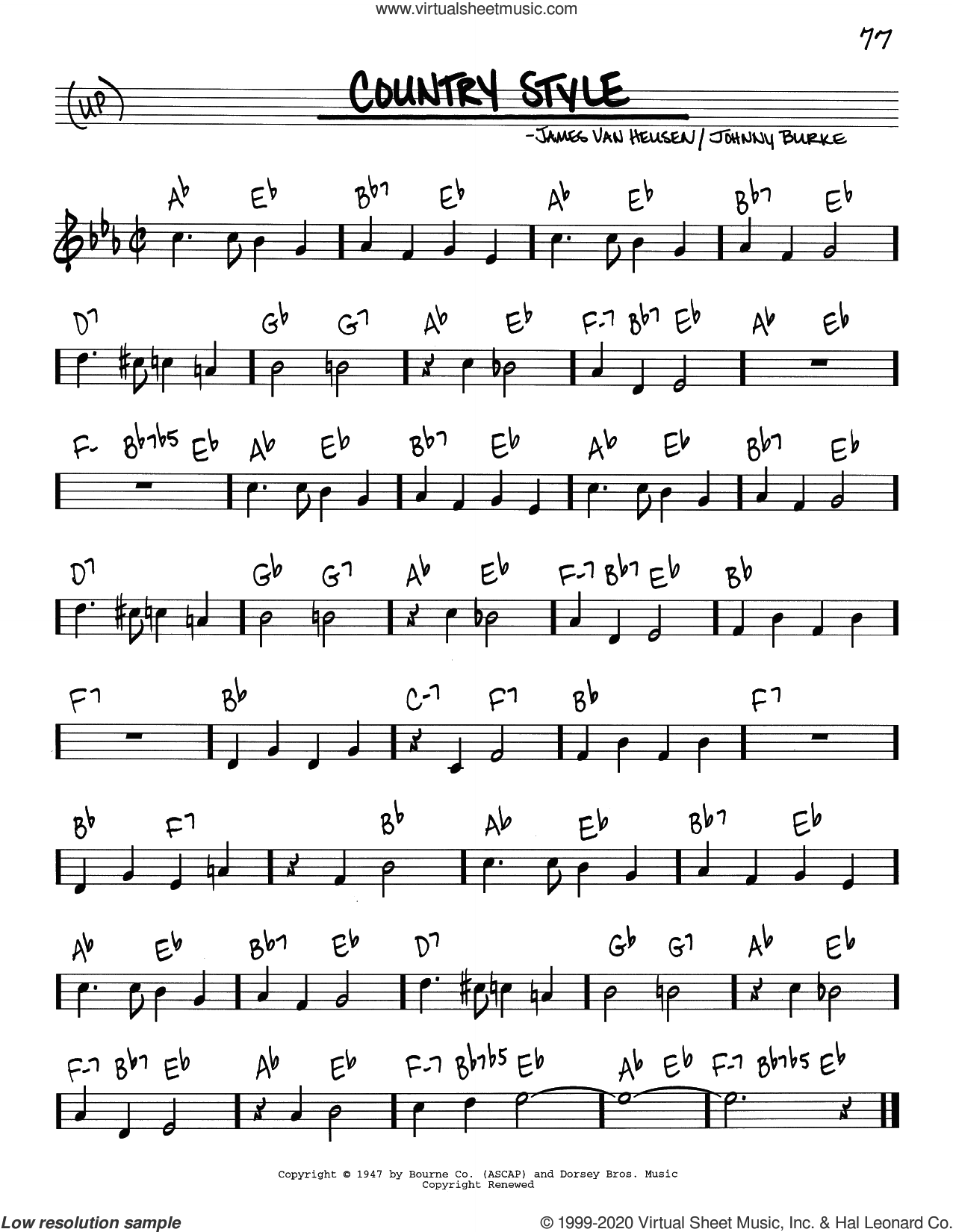 Country Preacher sheet music for voice and other instruments (real book) by Josef Zawinul, intermediate skill level