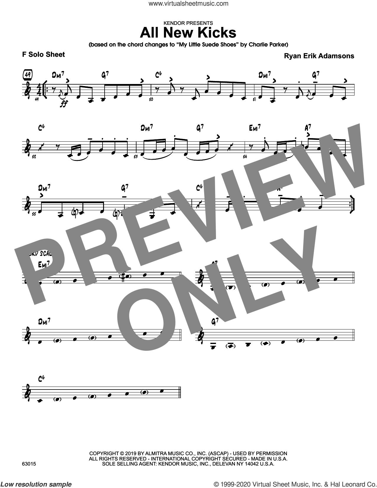 All New Kicks, solo sheet sheet music for jazz band (solo sheet - trumpet) by Ryan Erik Adamsons, intermediate skill level