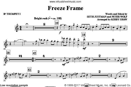 Freeze Frame (COMPLETE) sheet music for orchestra by Peter Wolf