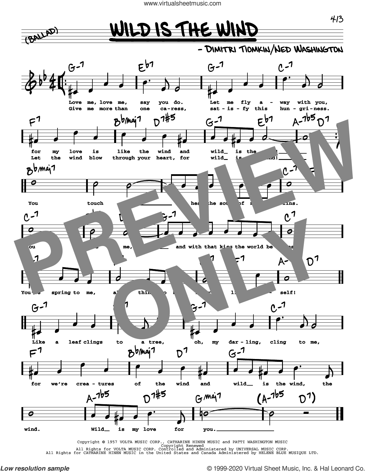 Wild Is The Wind (High Voice) sheet music for voice and other instruments (high voice) by David Bowie, Dimitri Tiomkin and Ned Washington, intermediate skill level