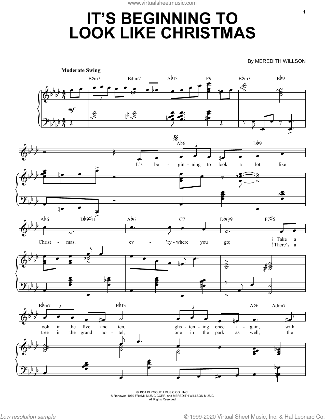 It's Beginning To Look Like Christmas [Jazz Version] (arr. Brent Edstrom) sheet music for voice and piano (High Voice) by Meredith Willson and Brent Edstrom, intermediate skill level