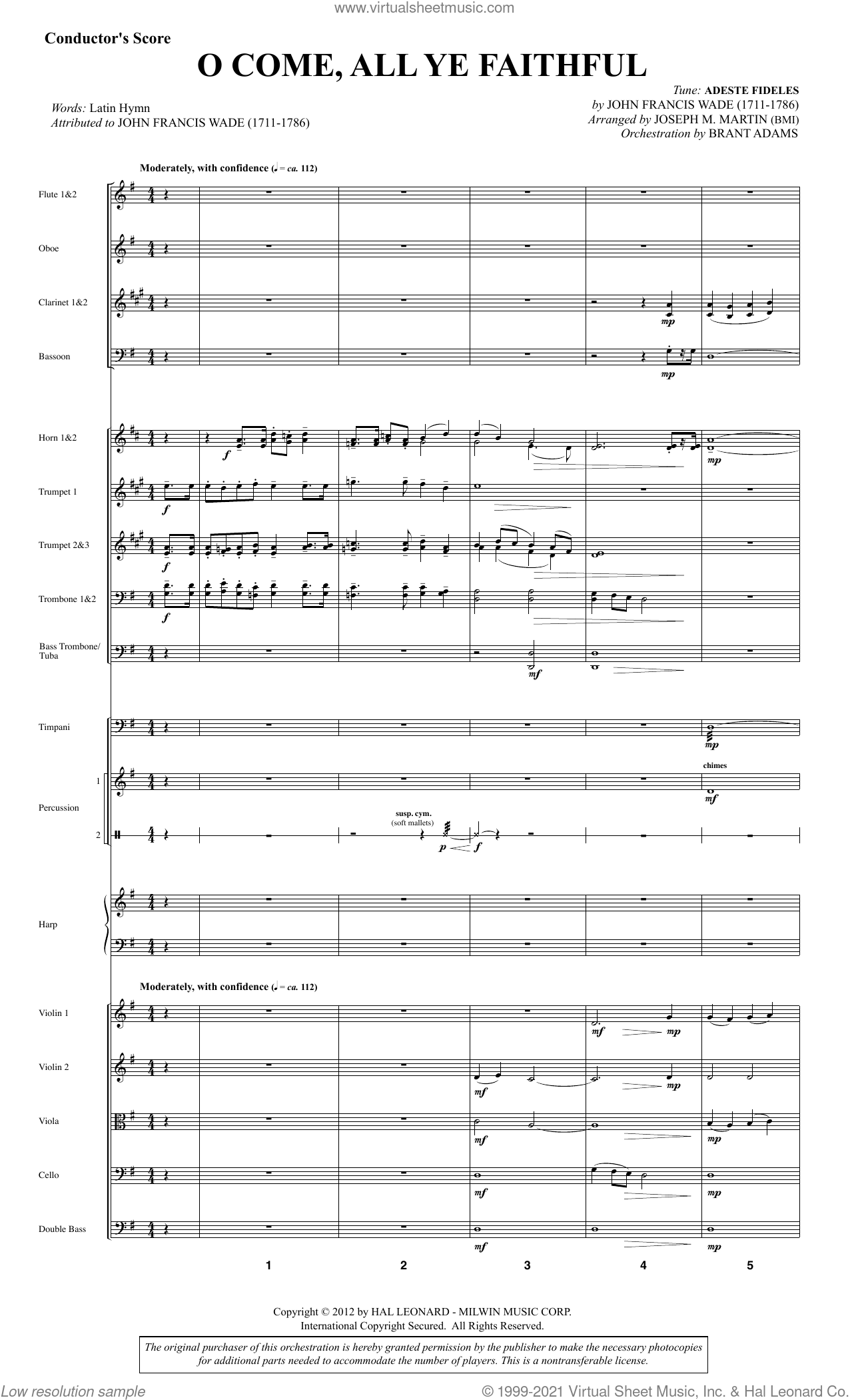 Carols for Choir and Congregation (Collection) (COMPLETE) sheet music for orchestra/band by Joseph M. Martin, intermediate skill level