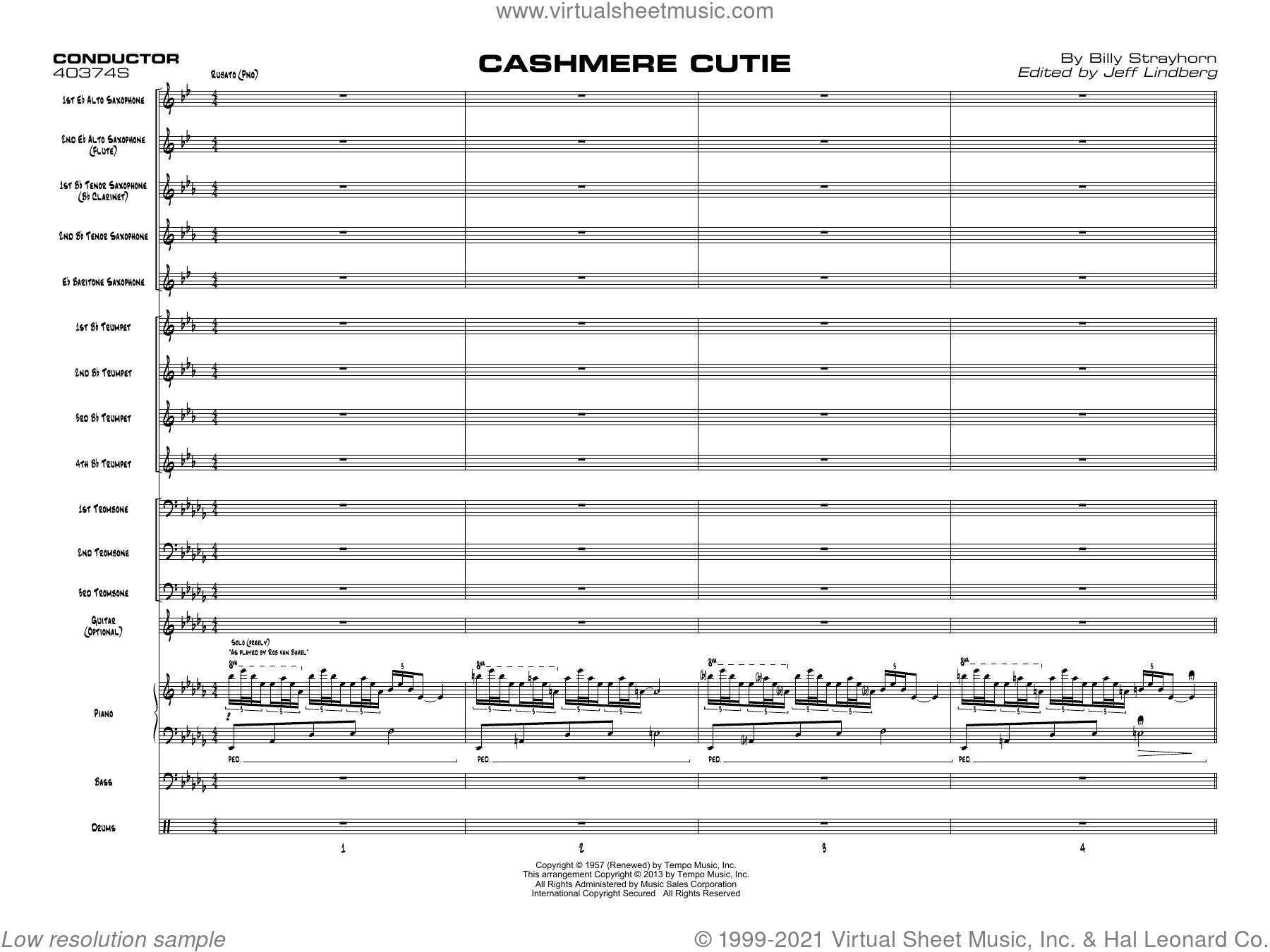 Cashmere Cutie (COMPLETE) sheet music for jazz band by Billy Strayhorn and Jeff Lindberg, intermediate skill level