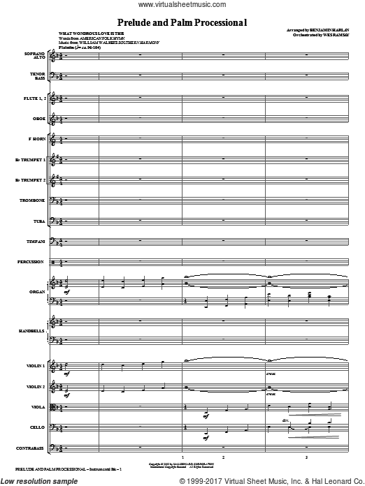 Prelude And Palm Processional (COMPLETE) sheet music for orchestra by Benjamin Harlan