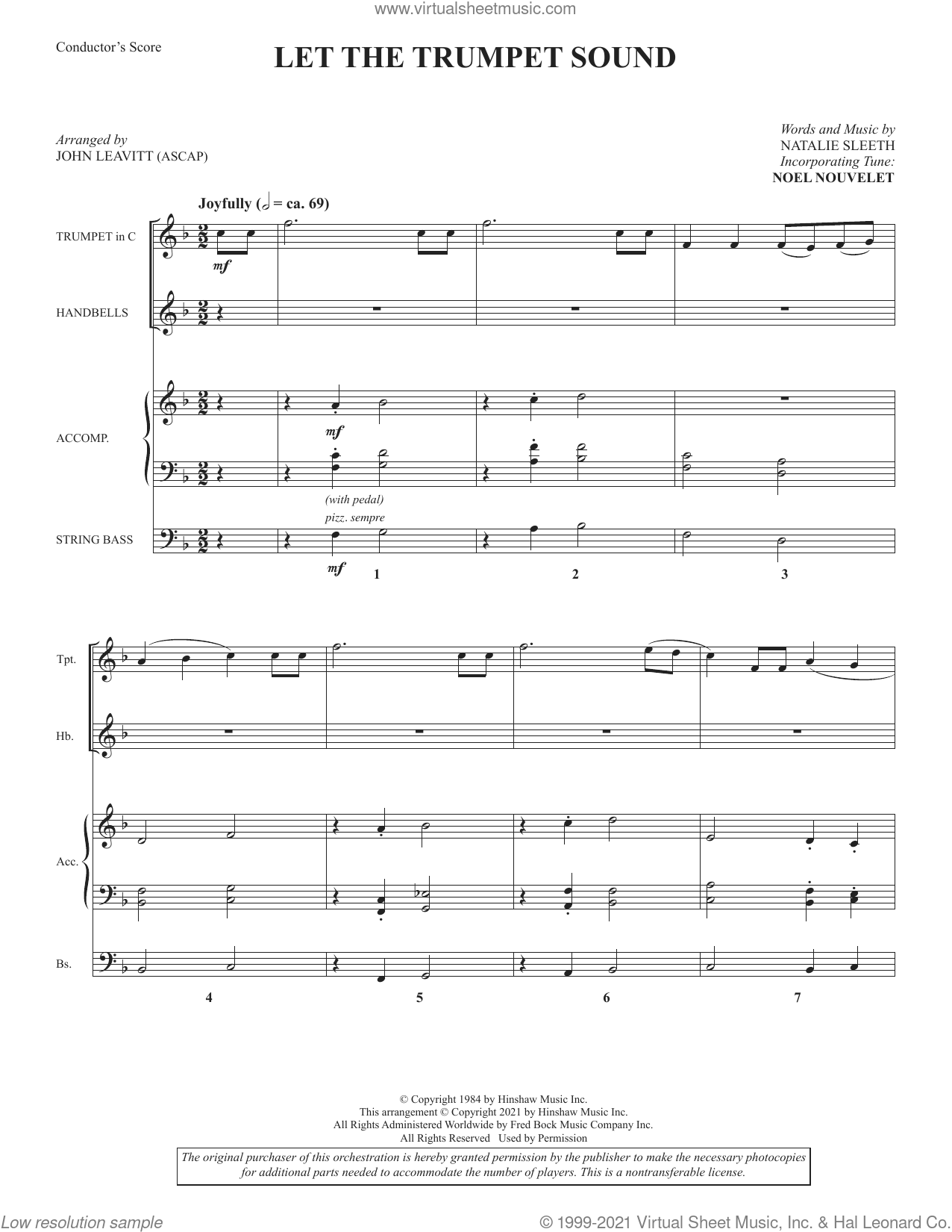 Let the Trumpet Sound (arr. John Leavitt) (COMPLETE) sheet music for orchestra/band by John Leavitt and NATALIE SLEETH, intermediate skill level