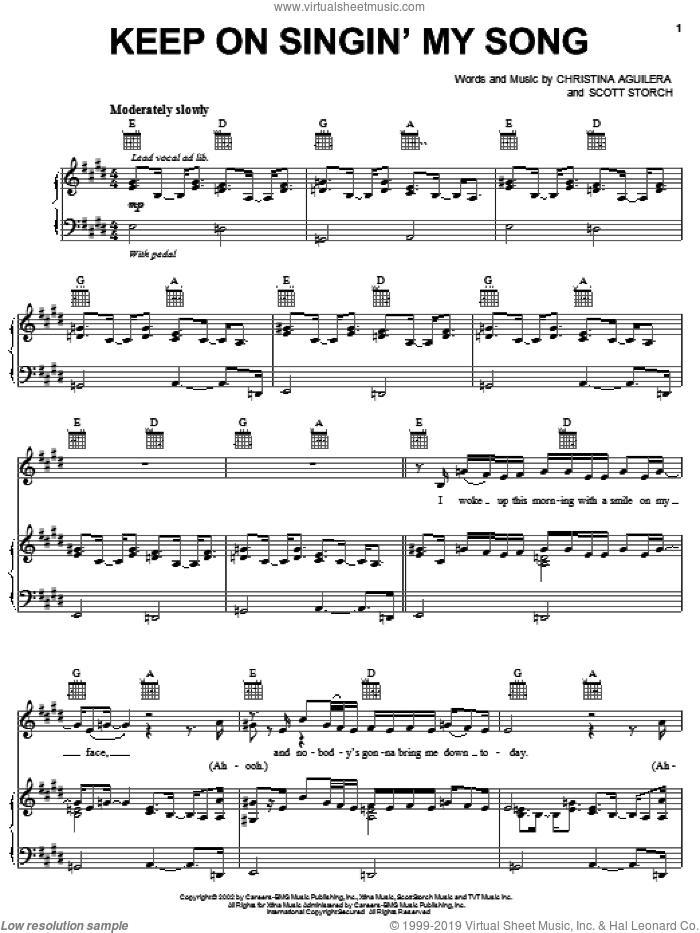 Keep On Singin' My Song sheet music for voice, piano or guitar by Scott Storch