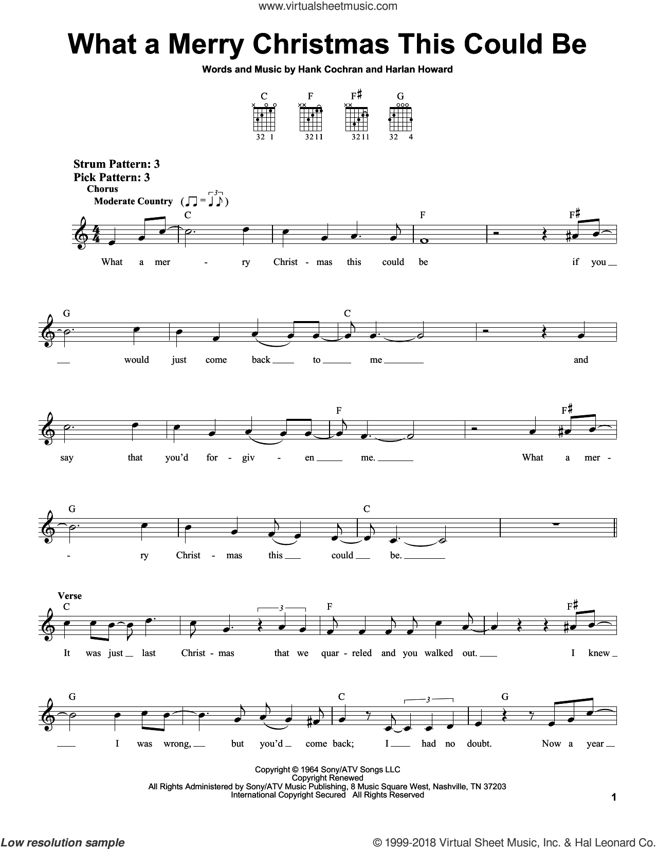 What A Merry Christmas This Could Be sheet music for guitar solo (chords) by Harlan Howard and Hank Cochran. Score Image Preview.