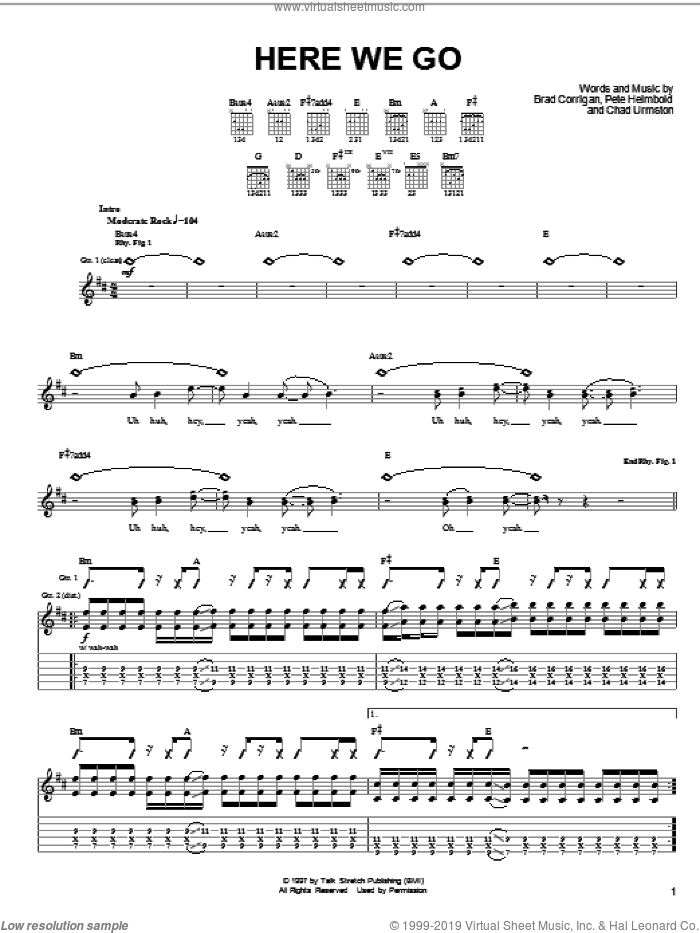 Here We Go sheet music for guitar (tablature) by Pete Heimbold