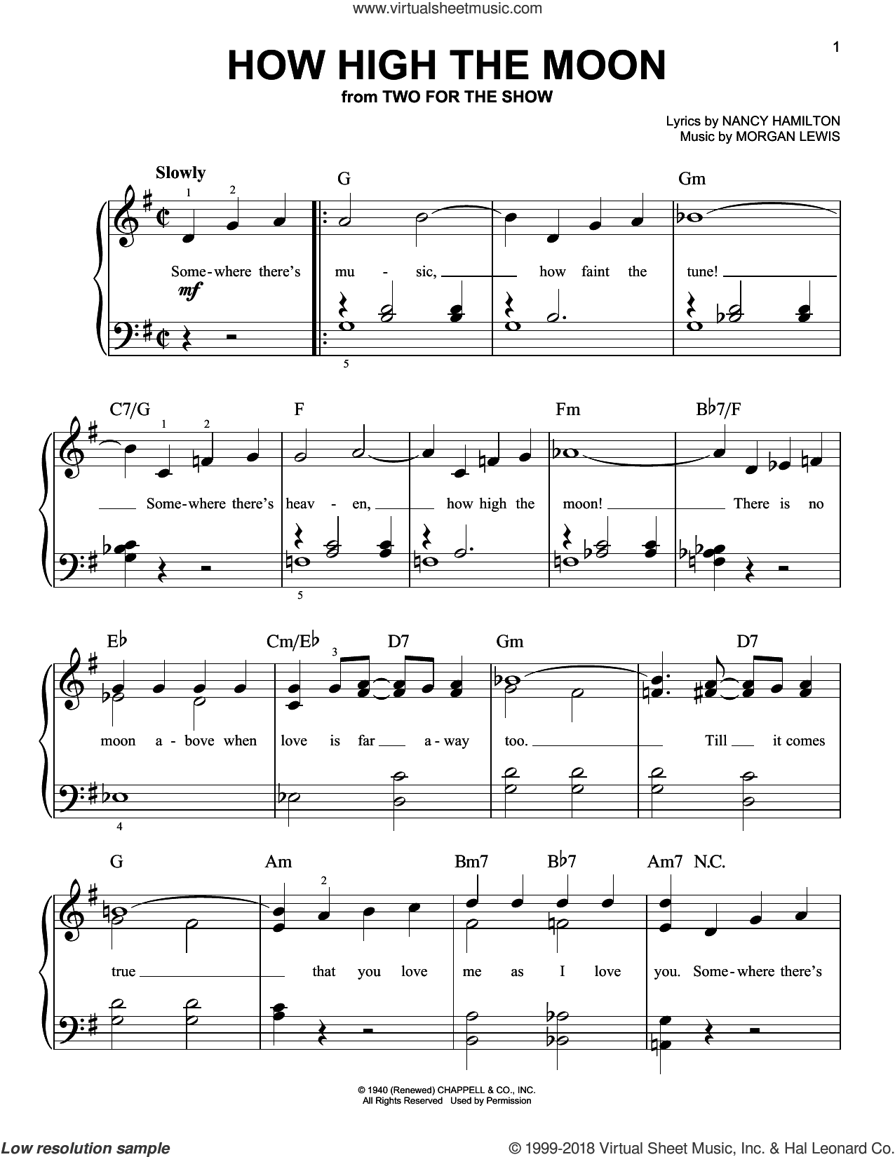 ellington how high the moon sheet music for piano solo pdf. Black Bedroom Furniture Sets. Home Design Ideas