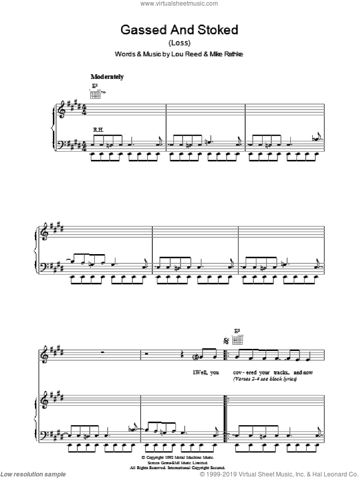 Gassed And Stoked sheet music for voice, piano or guitar by Michael Rathke