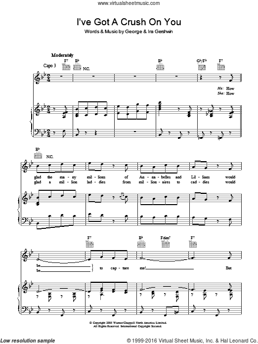 I've Got A Crush On You sheet music for voice, piano or guitar by Ira Gershwin and George Gershwin. Score Image Preview.