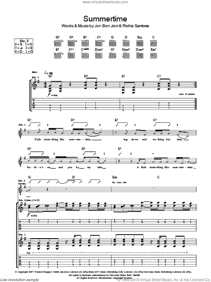summertime jazz sheet music pdf