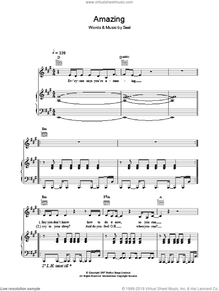 Amazing sheet music for voice, piano or guitar by Manuel Seal, intermediate voice, piano or guitar. Score Image Preview.
