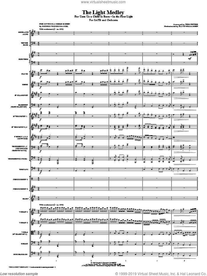 The Light Medley (COMPLETE) sheet music for orchestra/band (Orchestra) by Tom Fettke, intermediate skill level