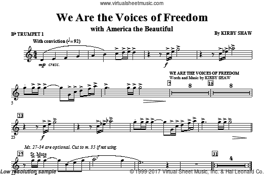 We Are The Voices Of Freedom (COMPLETE) sheet music for orchestra by Katherine Lee Bates