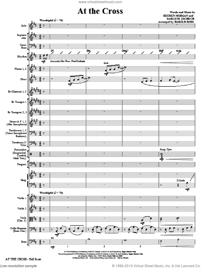 At The Cross (COMPLETE) sheet music for orchestra/band (Orchestra) by Reuben Morgan, Darlene Zschech and Harold Ross, intermediate skill level
