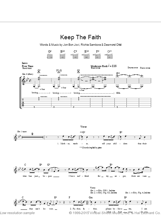 Jeremy sheet music for guitar (chords, lyrics, melody) by Jeff Ament