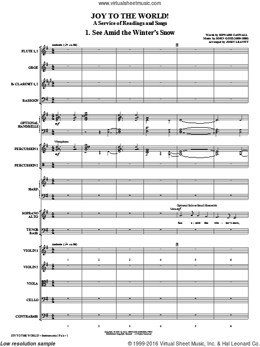 Joy To The World (COMPLETE) sheet music for orchestra  and John Leavitt. Score Image Preview.