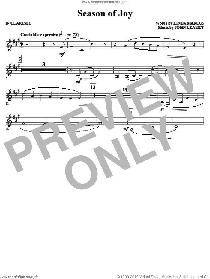Season Of Joy (complete set of parts) sheet music for orchestra/band (Special) by John Leavitt and Linda Marcus, intermediate skill level