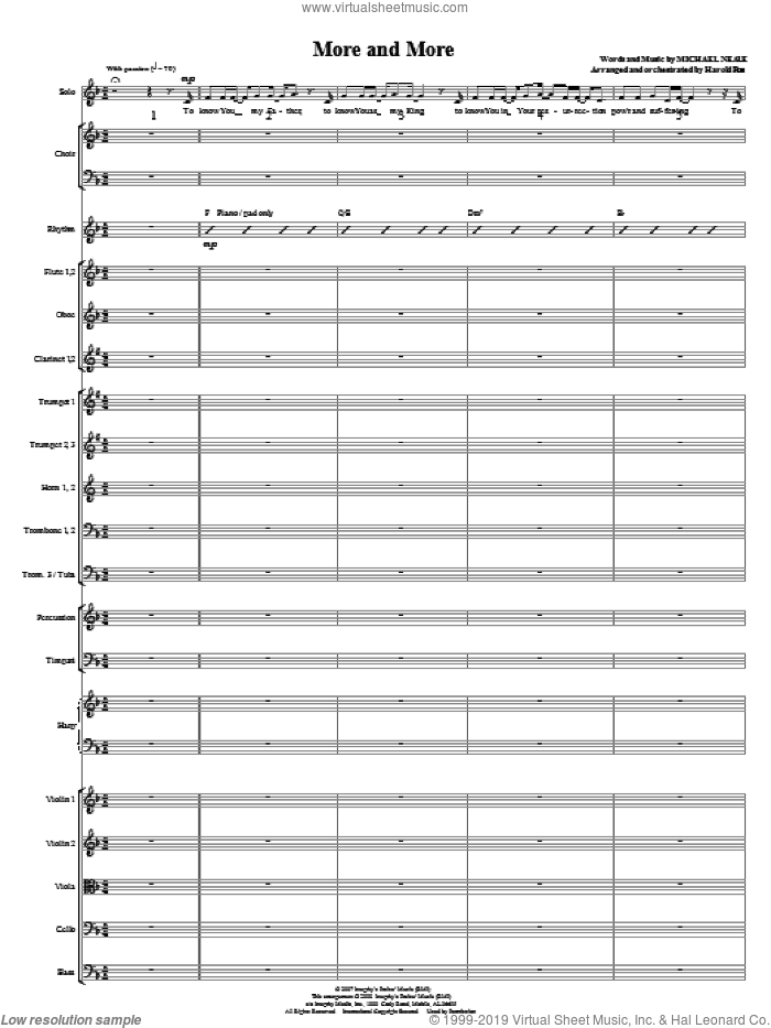 More And More (COMPLETE) sheet music for orchestra/band (Orchestra) by Michael Neale and Harold Ross, intermediate skill level