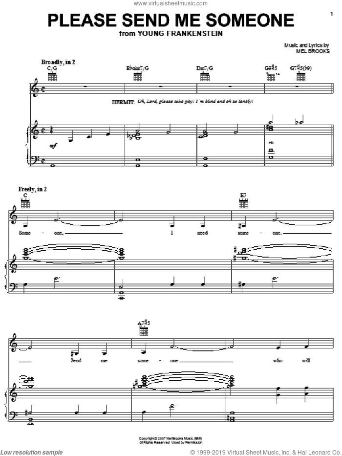 Please Send Me Someone sheet music for voice, piano or guitar by Thomas Meehan