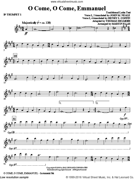 O Come, O Come, Emmanuel (COMPLETE) sheet music for orchestra by Martin Ellis. Score Image Preview.