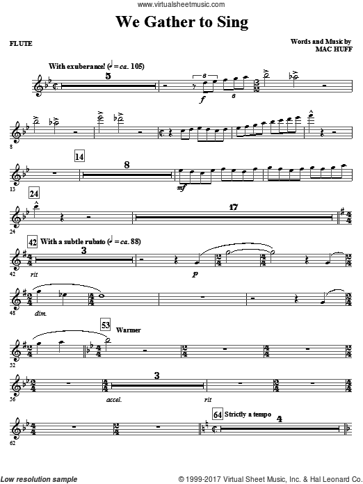 We Gather To Sing (COMPLETE) sheet music for orchestra by Mac Huff
