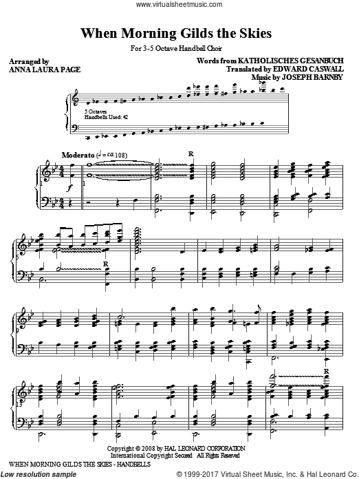 When Morning Gilds The Skies (COMPLETE) sheet music for orchestra by Joseph Barnby