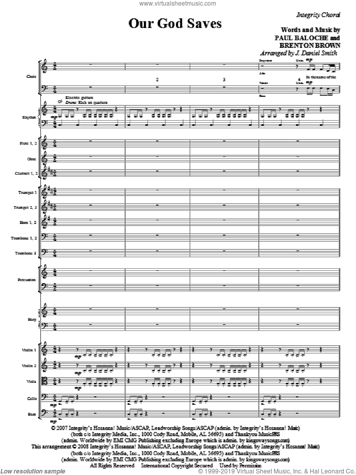 Our God Saves (COMPLETE) sheet music for orchestra/band (Orchestra) by Paul Baloche, Brenton Brown and J. Daniel Smith, intermediate skill level