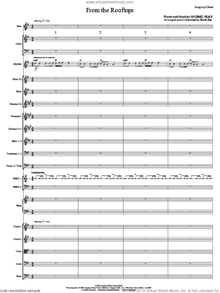 From The Rooftops (COMPLETE) sheet music for orchestra/band (Orchestra) by Michael Neale and Harold Ross, intermediate skill level