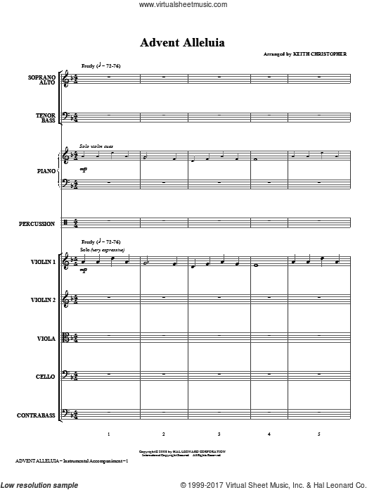 Advent Alleluia (COMPLETE) sheet music for orchestra