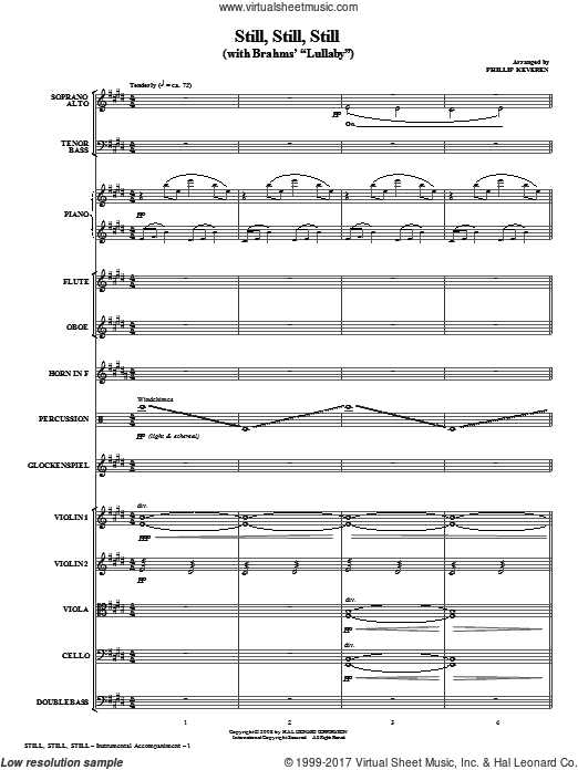 Still, Still, Still (with Brahms' Lullaby) (COMPLETE) sheet music for orchestra by Phillip Keveren